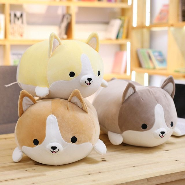 1pc 30-60cm Cute Corgi Dog Plush Toy Lovely Christmas Gift for Kids Stuffed Soft Animal Cartoon Pillow Kawaii Valentine Present