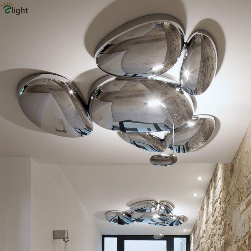 Modern Luxury Skydro Led Ceiling Lamp Lustre Led Ceiling Light Luminaria Lustre Chrome ABS Living Room Ceiling Light Fixtures