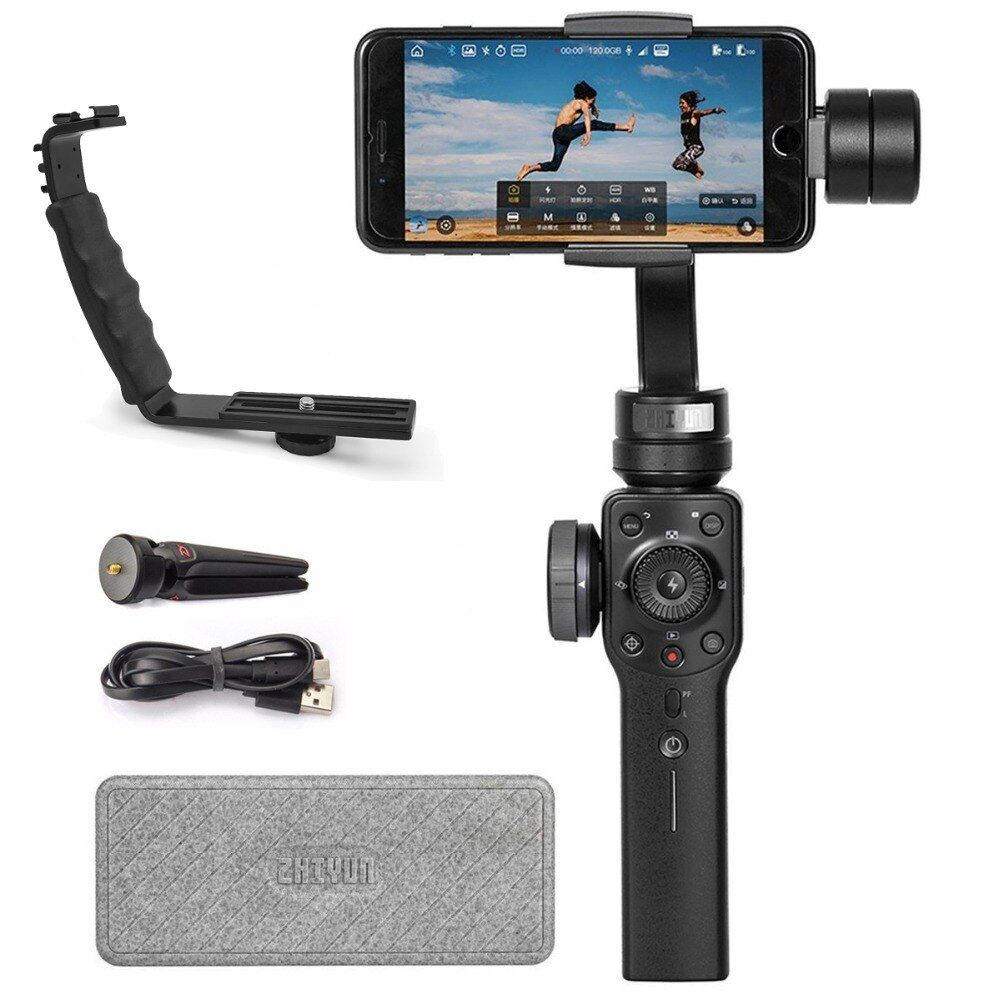 Zhiyun Smooth 4 3-Axis Gimbal Stabilizer for Smartphone Up to 210g Focus/Zoom Wheel Two-way Charging