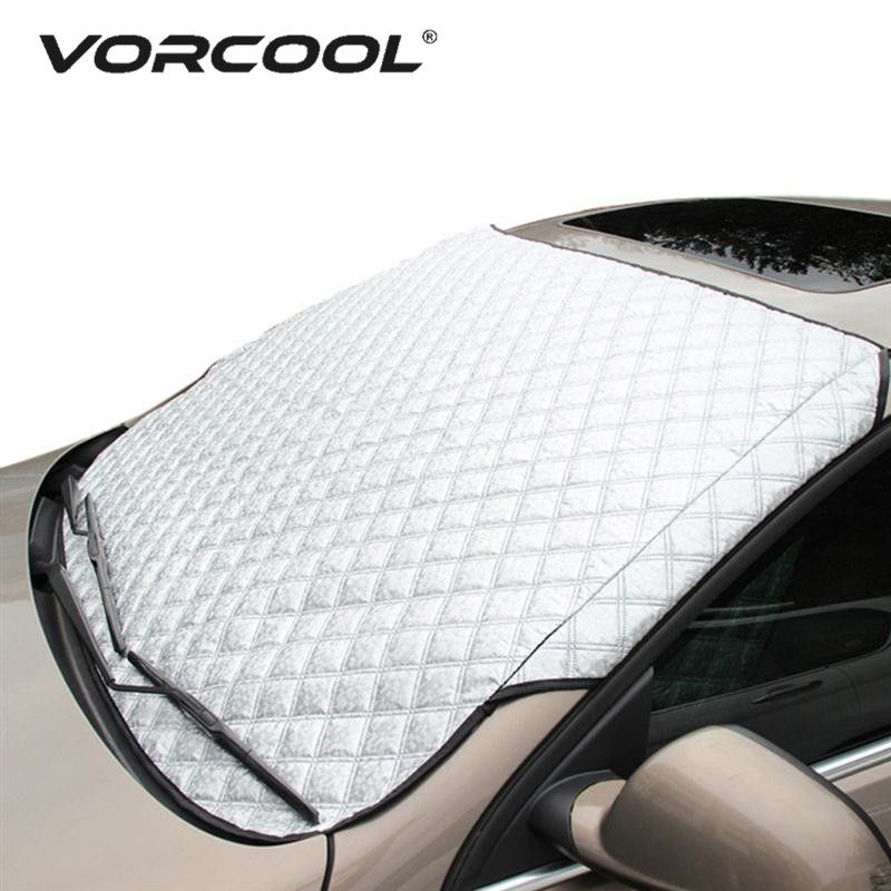 VORCOOL SUV Universal Car <font><b>Windshield</b></font> All Weather Snow Cover & Sun Shade Protection Cover Fits Most of Car