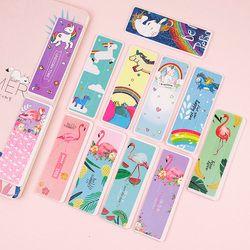 6pcs Cute Cartoon Unicorn Flamingo Bookmark Animals Book Markers Paper Clip For Kids Gift Korean School Stationery Supplies