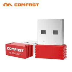 Comfast CF-WU710V2 Mini USB adaptador Wi-fi 2,4g Wifi dongle 150 Mbps 802.11b/g/n Wifi emisor Wi fi receptor tarjeta de red antena