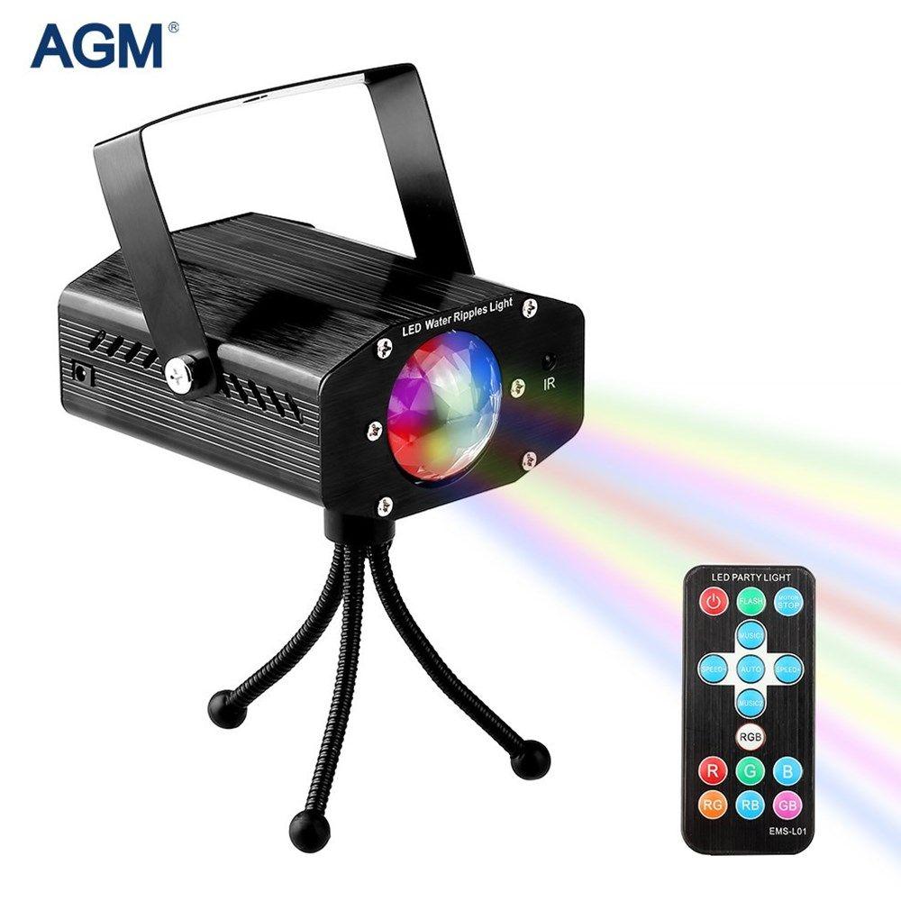 AGM Mini Laser Projector Lamp Portable Stage Lighting Effect Lumiere Christmas Disco Ball DJ Bar Strobe Christmas Sound Light