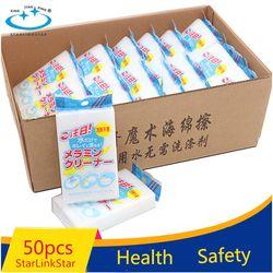 50 Buah/Lot Menebal Super Clean Magic Sponge Cleaning Melamine Spons Dapur Esponja Magica Penghapus Bersih Cuci Piring Spons