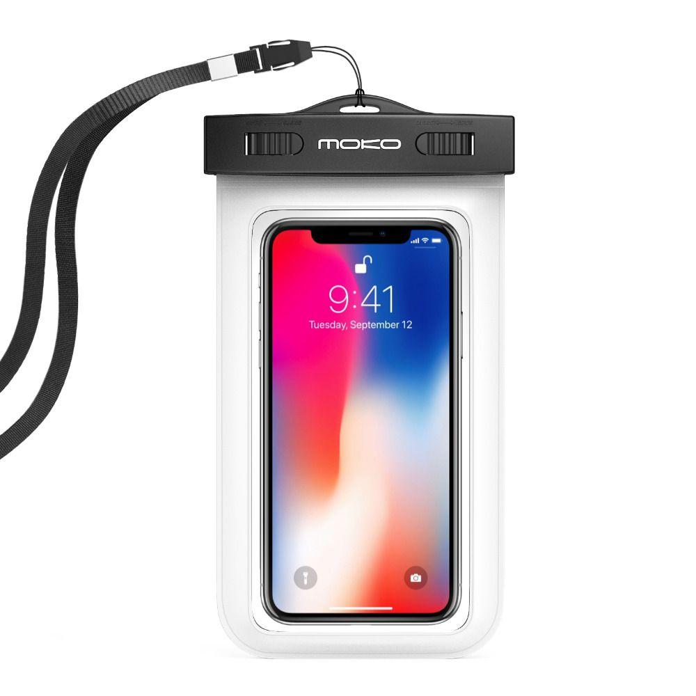 Universal Cas de Téléphone Étanche, moKo Multifonction Téléphone Portable Sec Sac De Poche avec Brassard Caractéristique et Courroie De Cou pour iPhone X/8 Plus