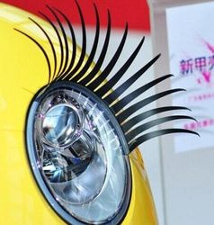 2 X Auto 3D Cils 3D auto voiture cils 3D de voiture logo autocollant 2 pcs = 1 paire