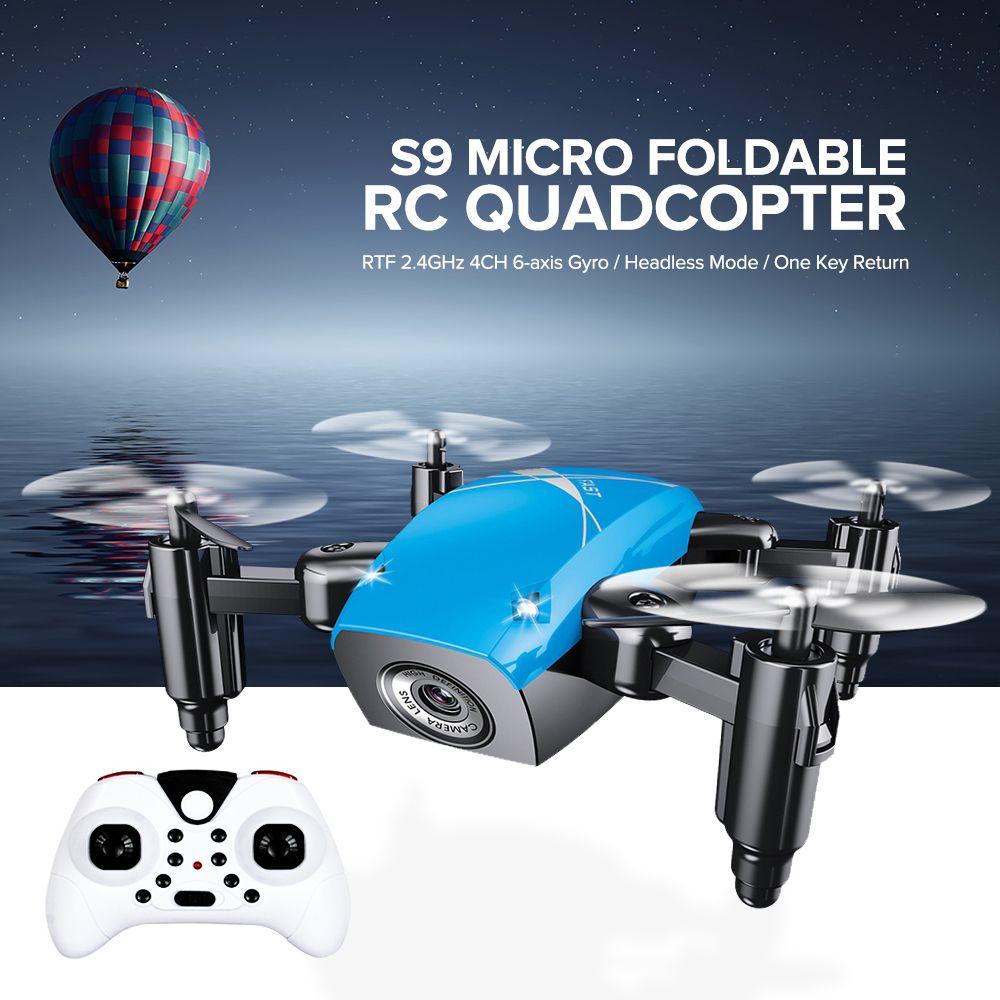 S9 S9W S9HW pliable RC Mini Drone de poche Drone Micro Drone hélicoptère RC avec caméra HD maintien d'altitude Wifi FPV FSWB poche Dron