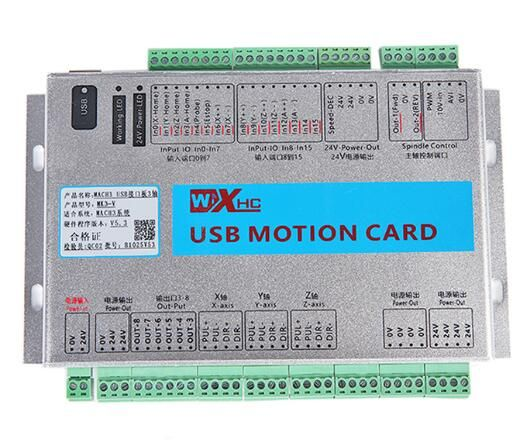 XHC MK3-V Mach3 USB 3 Axis CNC Breakout Board Motion Control Card 2MHz Support Resume from Breakpoint & Spindle Speed Feedback