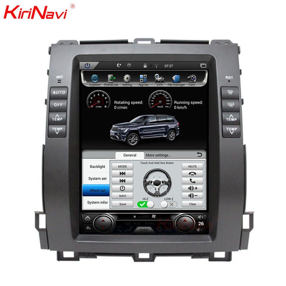 KiriNavi 2 GB RAM Vertikale Bildschirm Tesla Stil Android 6.0 10,4 Zoll Auto Radio Für Toyota Prado Auto DVD Gps Navigation