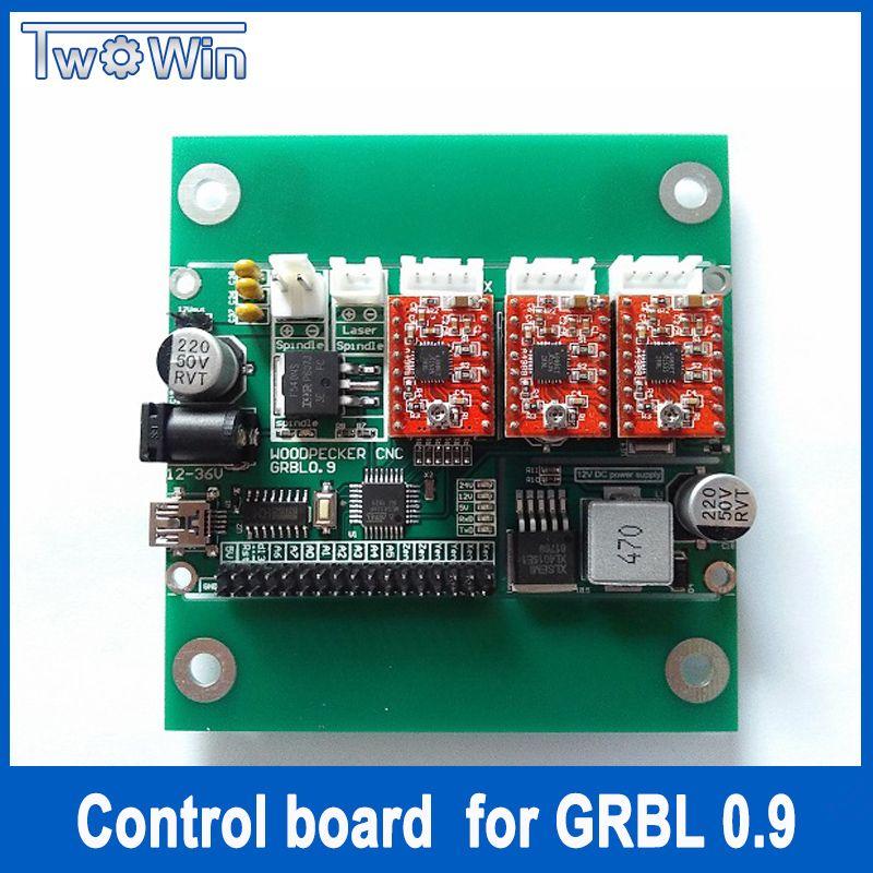 GRBL 0.9J,USB port cnc engraving machine control board, 3 axis control,laser engraving machine board