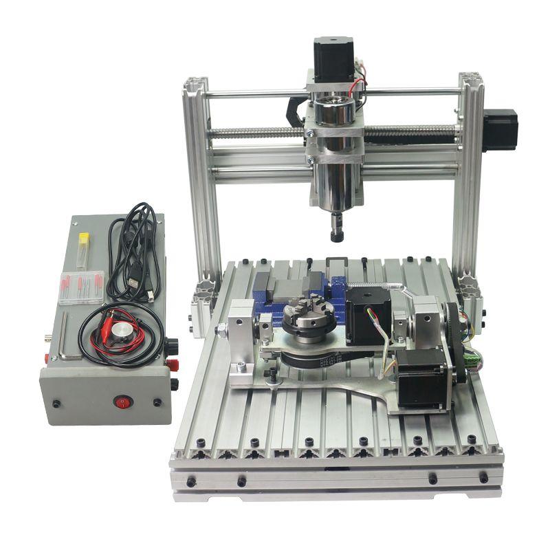 5 achse DIY CNC 3040 Mit 400 W Spindel Motor USB Port Mach3 ER11 Collet typ Für Pcb Pvc Holzbearbeitung CNC Fräsen Maschine