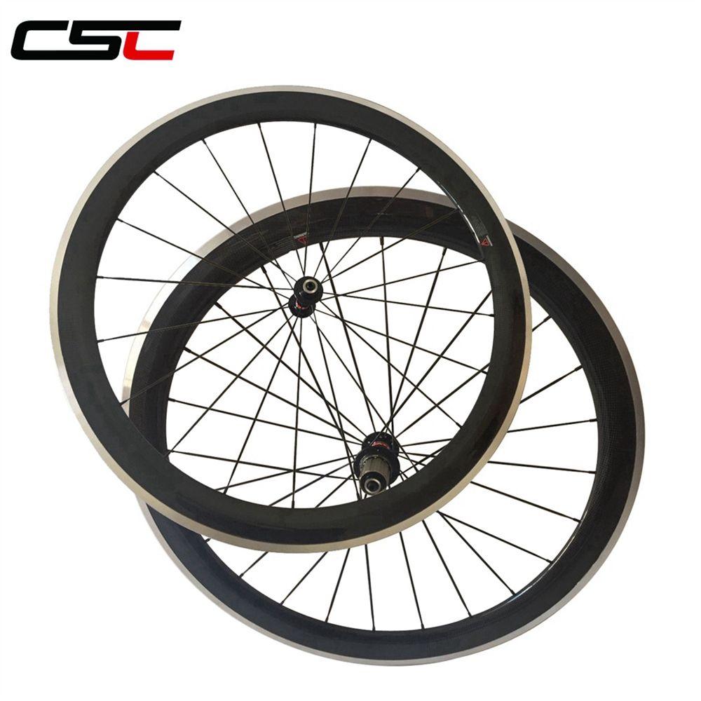 700C 50mm 23mm Clincher Carbon wheels Alloy brake surface for road bike Aluminium Braking wheelset Novatec AS511SB /FS522SB hub