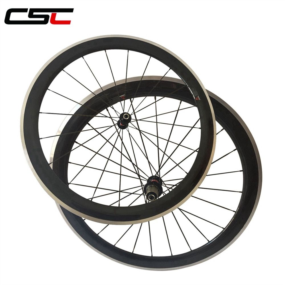 700C 50mm 23mm Clincher Carbon wheels Alloy brake surface for road bike Aluminium Braking wheelset Novatec AS511SB /FS522SB hub