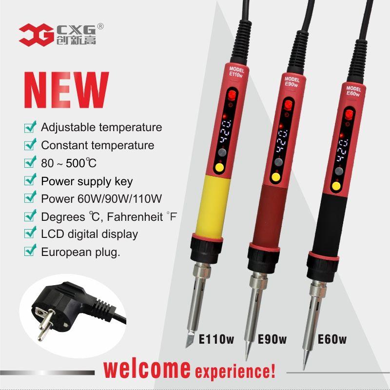 CXG E60W Professional LED Digital Adjustable Electric Soldering Iron Constant temperature Soldering Station E90W E110W