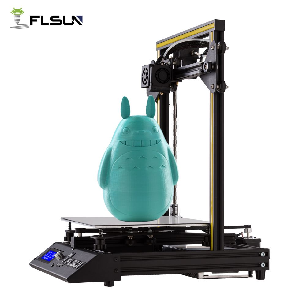 3D Drucker Flsun-F4 Große Druck Größe 240*240*260mm Pre-montage Metall Teile HeatBed Eine Rolle filament