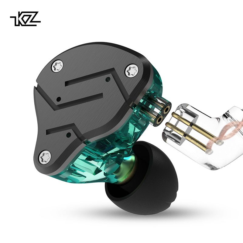 New KZ ZSN 1DD+1BA Heavy bass iron commutative cable earphone Ear type HIFI moving iron Quad core controlled music movement ZST