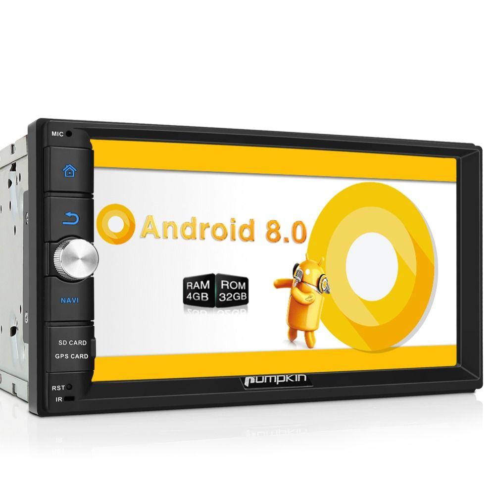 Kürbis Octa Core RAM 4G ROM 32G 2 Din 7''Android 8,0 Universal Auto Radio Audio Stereo KEINE DVD GPS Navigation Schnelle Boot Steuergerät