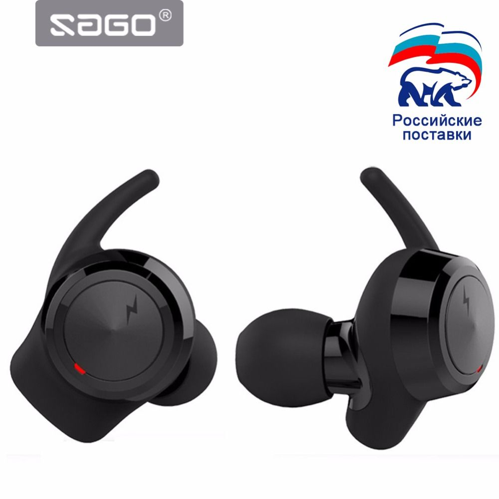 SAGO US-001 Wireless Bluetooth Headphones Stereo Sport Earphones Invisible Earbuds with Mic for XIAOMI Iphone Samsung