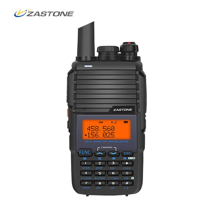 ZASTONE 501 Portable Walkie Talkie 5W UHF VHF 136-174MHz/400-470MHz 128CH 1800mAh Amateur Radio Communicator FM Transceiver