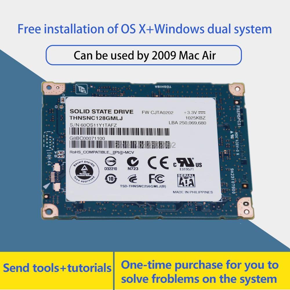 Новый 1.8 дюймов SATA LIF 128 ГБ SSD для MacBook Air A1304 MC233 mc234 заменить HS12UHE