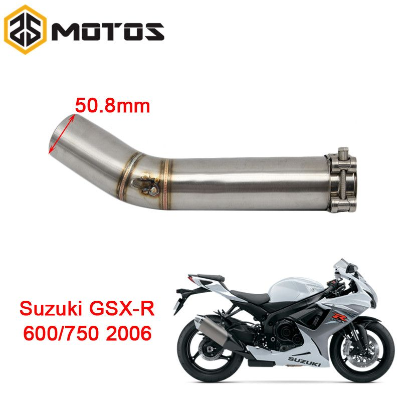 ZS MOTOS Motorcycle Exhaust Middle Pipe For SUZUKI GSXR600/750 2006 Without Exhaust