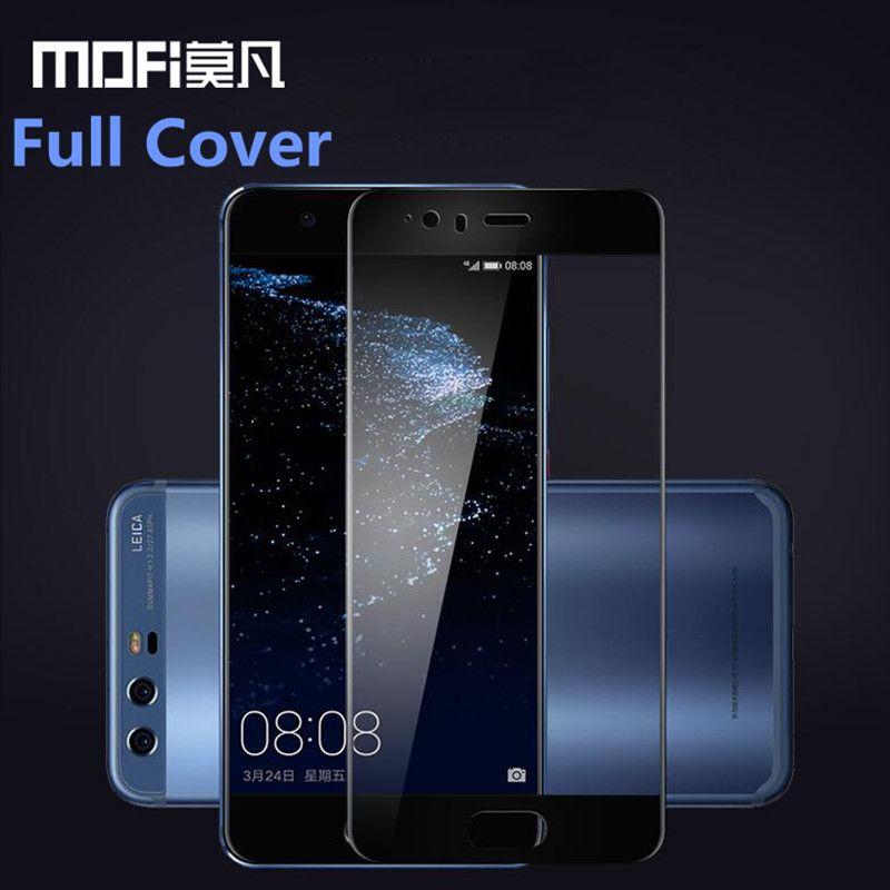 Huawei p10 Plus verre trempé Huawei p10 protecteur d'écran couverture complète film de protection clair MOFi original Huawei p10 verre