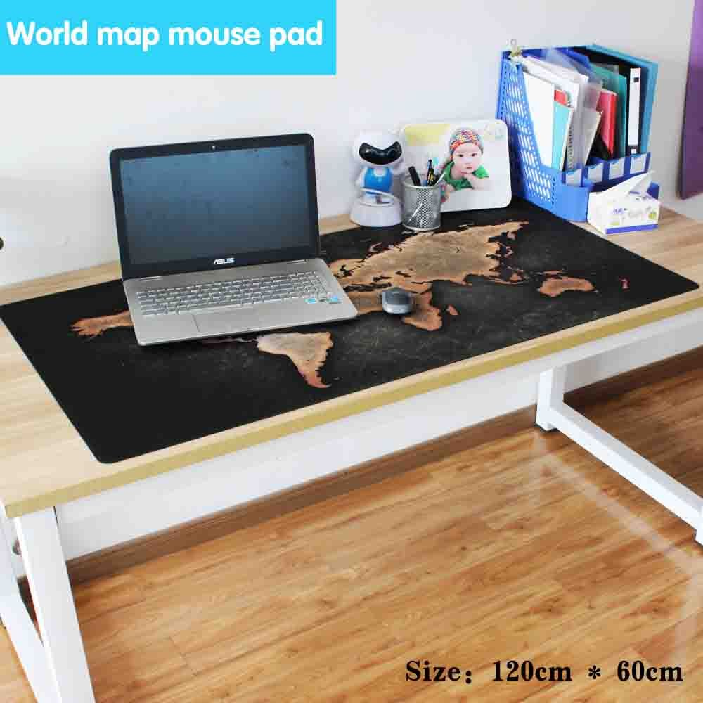 2017 new hot various size new World Map office mouse pad Speed Computer Gaming Mouse Pad Table Mat