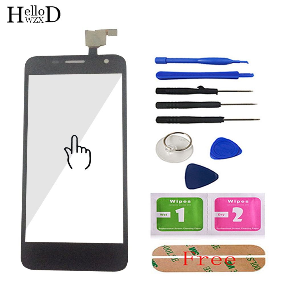 New Touch Panel Glass For Alcatel One Touch Idol Mini 6012 6012A 6012X OT6012 Touch Screen Digitizer Lens Sensor Free Adhesive