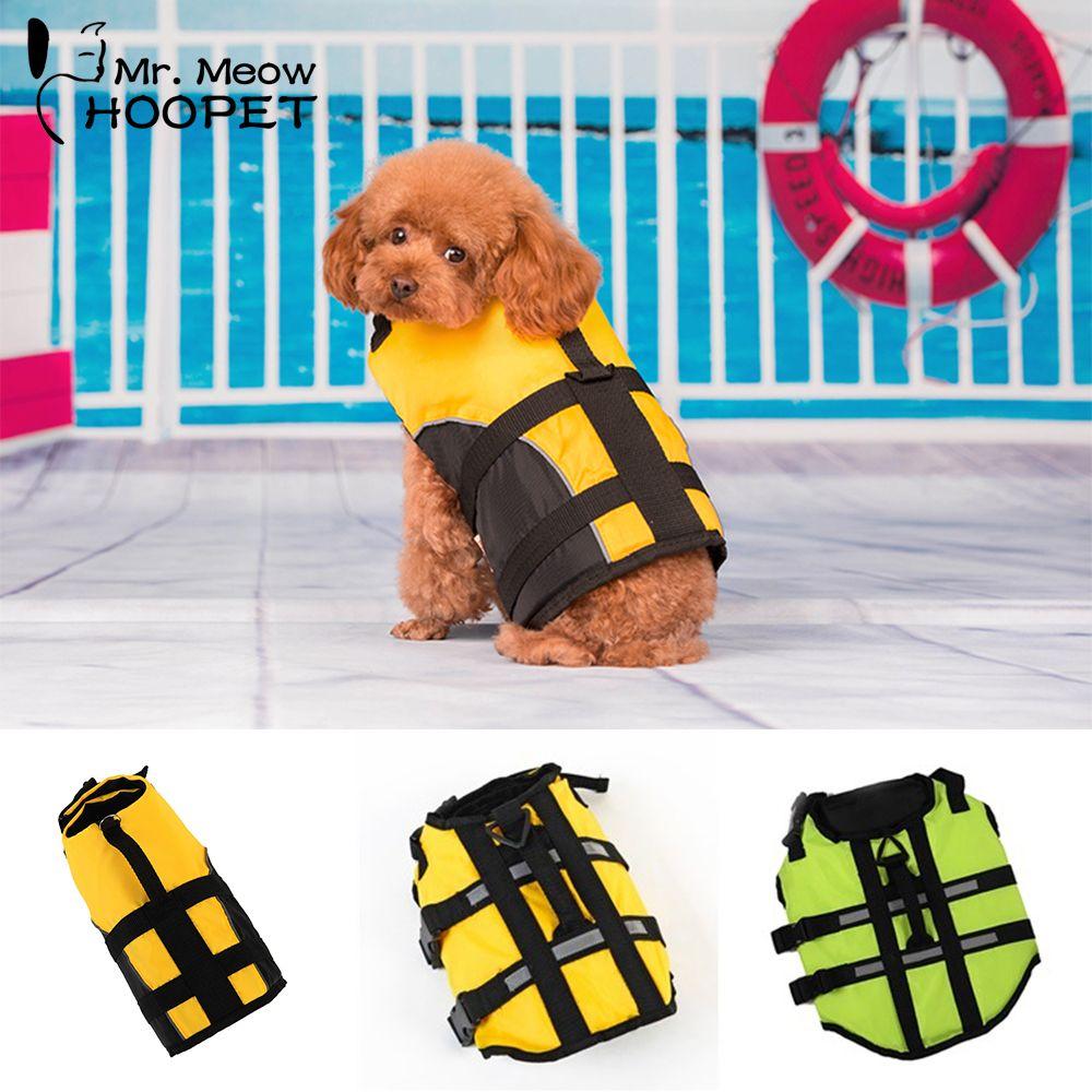 Hoopet Pet gilet de sauvetage pour chien Vêtements De Sécurité Vie Gilet harnais de collier Plus Pet Dog Piscine Preserver Vêtements maillot de bain d'été