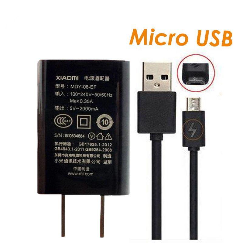 D'origine Mi Chargeur de Voyage 5 V 2A Chargeurs Adaptateur Universa Micro USB câble pour xiomi Xiaomi Mi/2/3/4 RedMi 4X 4A Note 2/Note 3 4