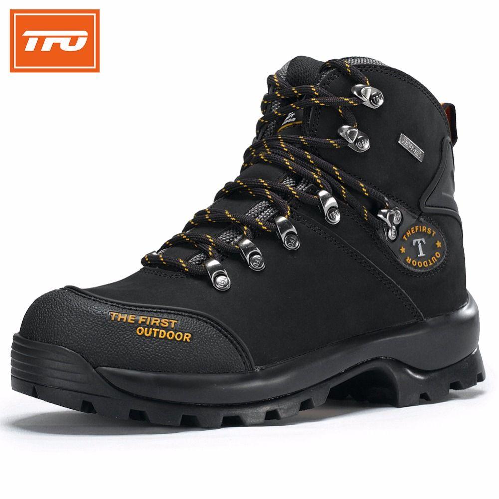 TFO senderismo zapatos hombre botas de Escalada de montaña mujeres 100% cuero Genuino impermeable táctico al aire libre pesca de invierno 2017
