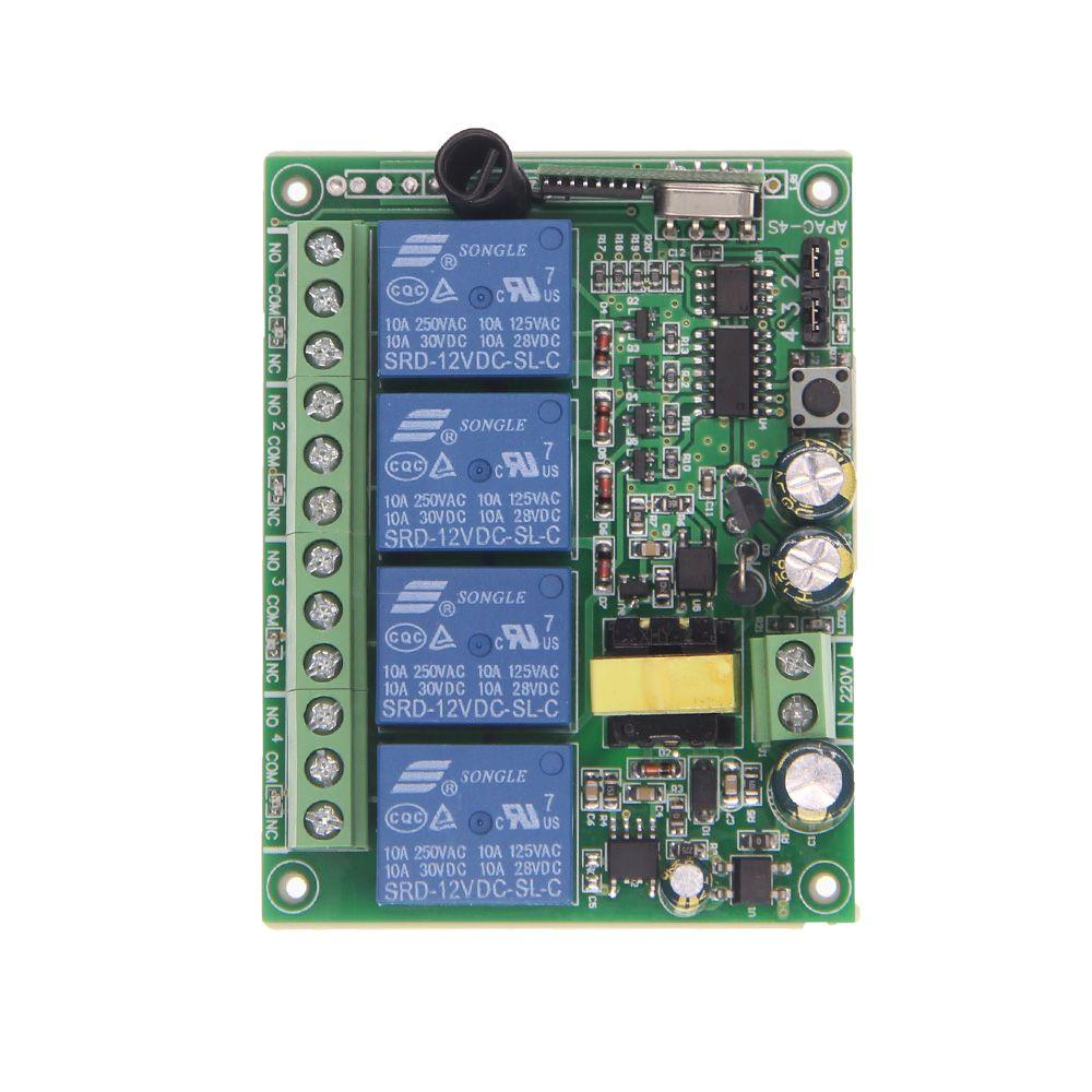 AC 220 v 10A 4 CH 4CH RF Drahtlose Fernbedienung LED Licht Switch System Receiver, 315/433 mhz