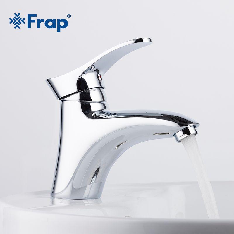 Frap laiton salle de bain bassin robinets robinets mélangeur eau chaude et froide mélangeur bain évier robinet Chrome fini torneira F1001