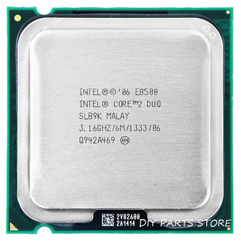 Processeur INTEL E8500 INTEL Core 2 Duo E8500 CPU (3.16 Ghz/6 M/1333 GHz) Socket LGA 775