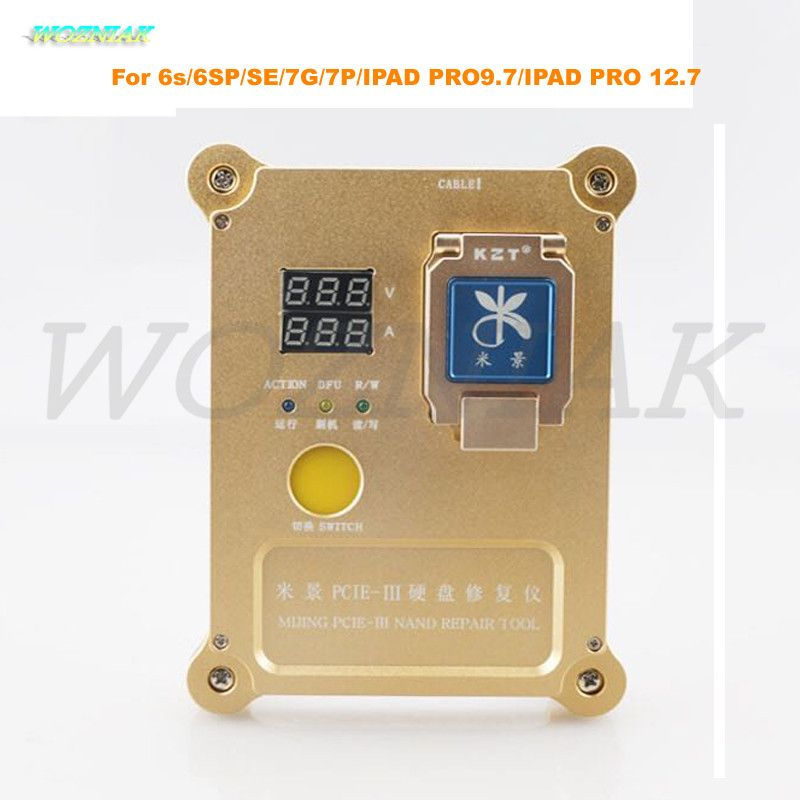Wozniak PCie Programmer for iphone 6s 6SP SE 7G Plus 7P IPAD PRO9.7 for PRO 12.7 Hard disk test rack HDD nand Repair SN WIFI