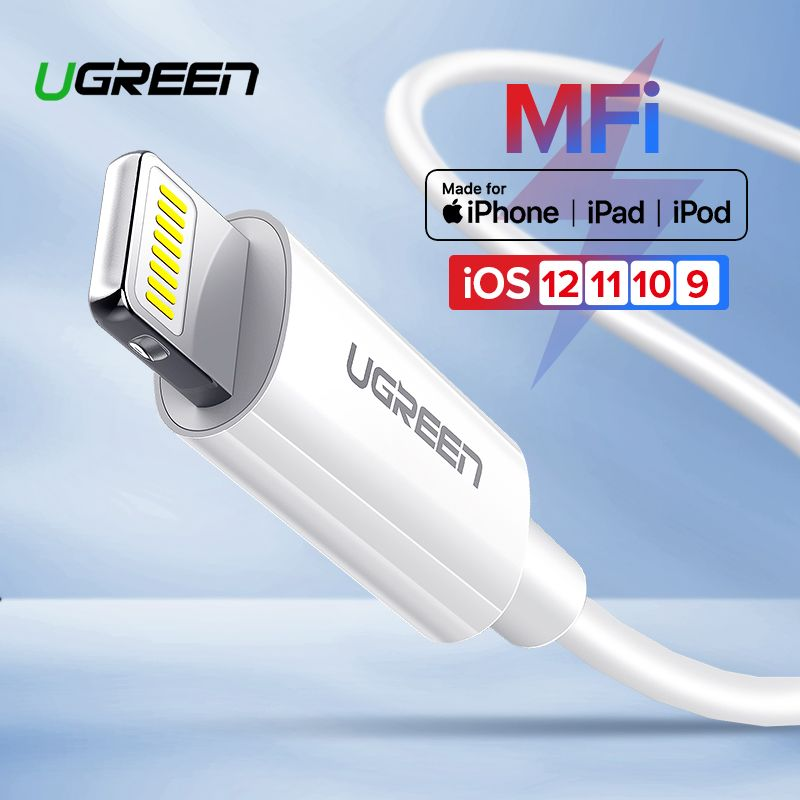 Ugreen MFi USB Cable for iPhone X Xs Max XR 2.4A Fast Charging USB Charger Data Cable for iPhone Cable 8 7 6Plus USB Charge Cord
