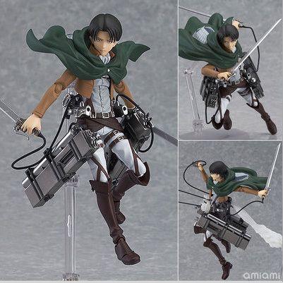 14 cm anime attaque sur Titan légion Scoutisme shingeki pas Kyojin Levi Figma 213 PVC action Figure Collection Modèle Jouet Cadeau Eren