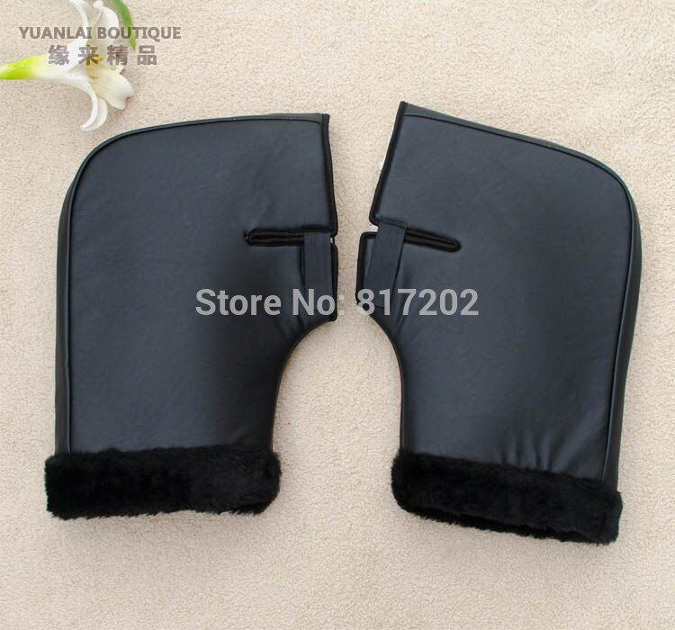 High Quality PU Leather Motorcycle motor Handlebar Muffs Snowmobile Waterproof Winter Hand Warm Covers Gloves Handle Bar Muffs