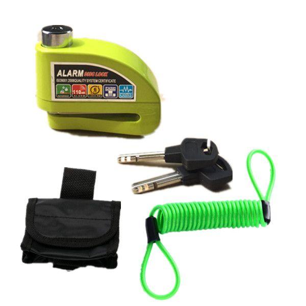 Free Shipping waterproof motorcycle alarm lock bike lock security anti-theft lock moto disc brake lock +bag+Reminder rope