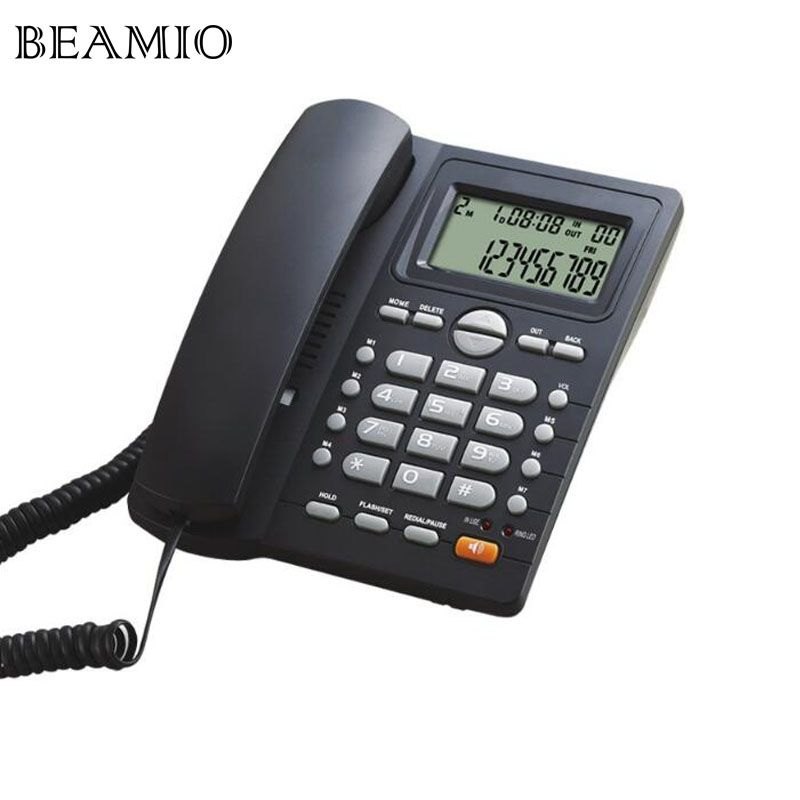 DTMF/FSK Call ID Handsfree Landline Telephone Without Battery Dual Interface Fixed Phone For Home Office Hotel