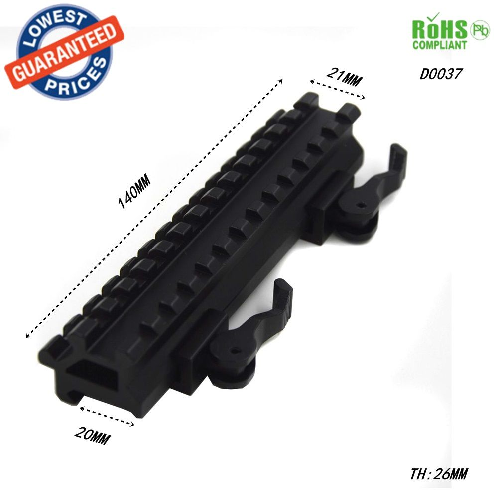 Dovetail extend Weaver 20mm to 20mm Scope bases Mounts 20mm rail mount Quick Release Picatinny Weaver Rail Hunting-D0037
