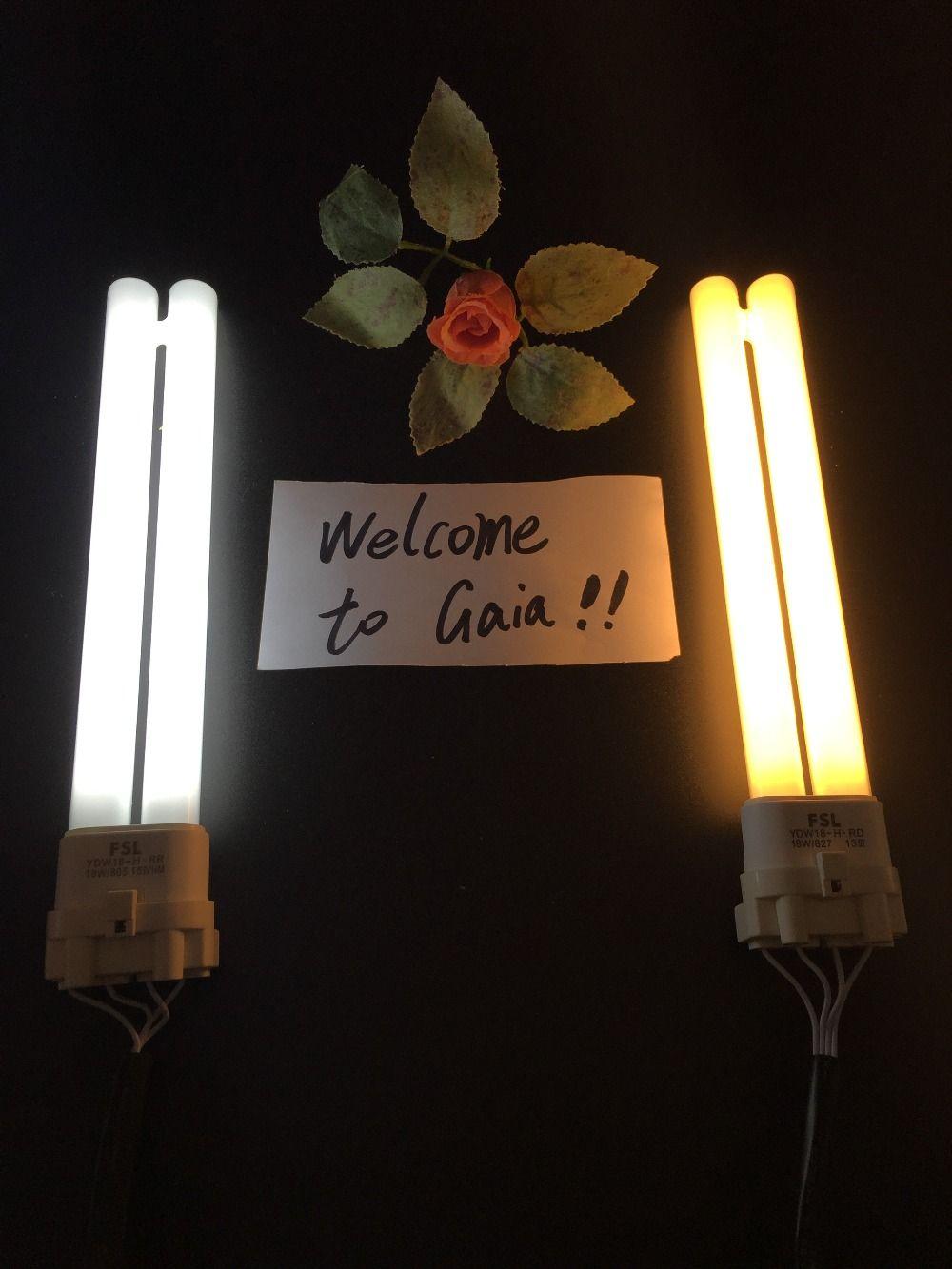 Ampoule à double Tube linéaire fluorescente compacte FSL, Base CFL en forme de H 4 broches 2G11 18 W/24 W/36 W/40 W/55 W 2700 K/6500 K disponible