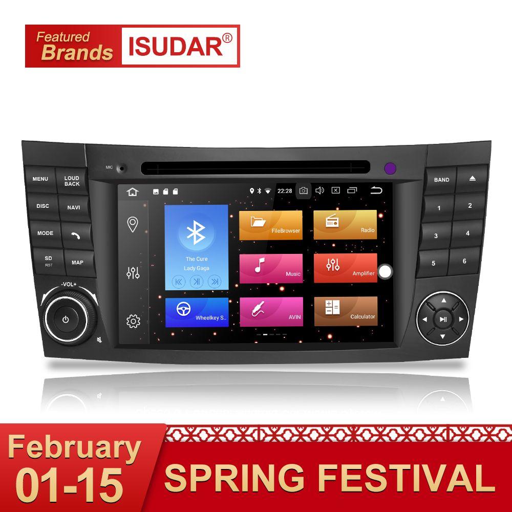 Isudar Auto dvd automotivo Player 2 Din Android 8.0 GPS Für Mercedes/Benz/E-Klasse/W211/ CL 8 Kerne 4 GB RAM Wifi Radio am fm
