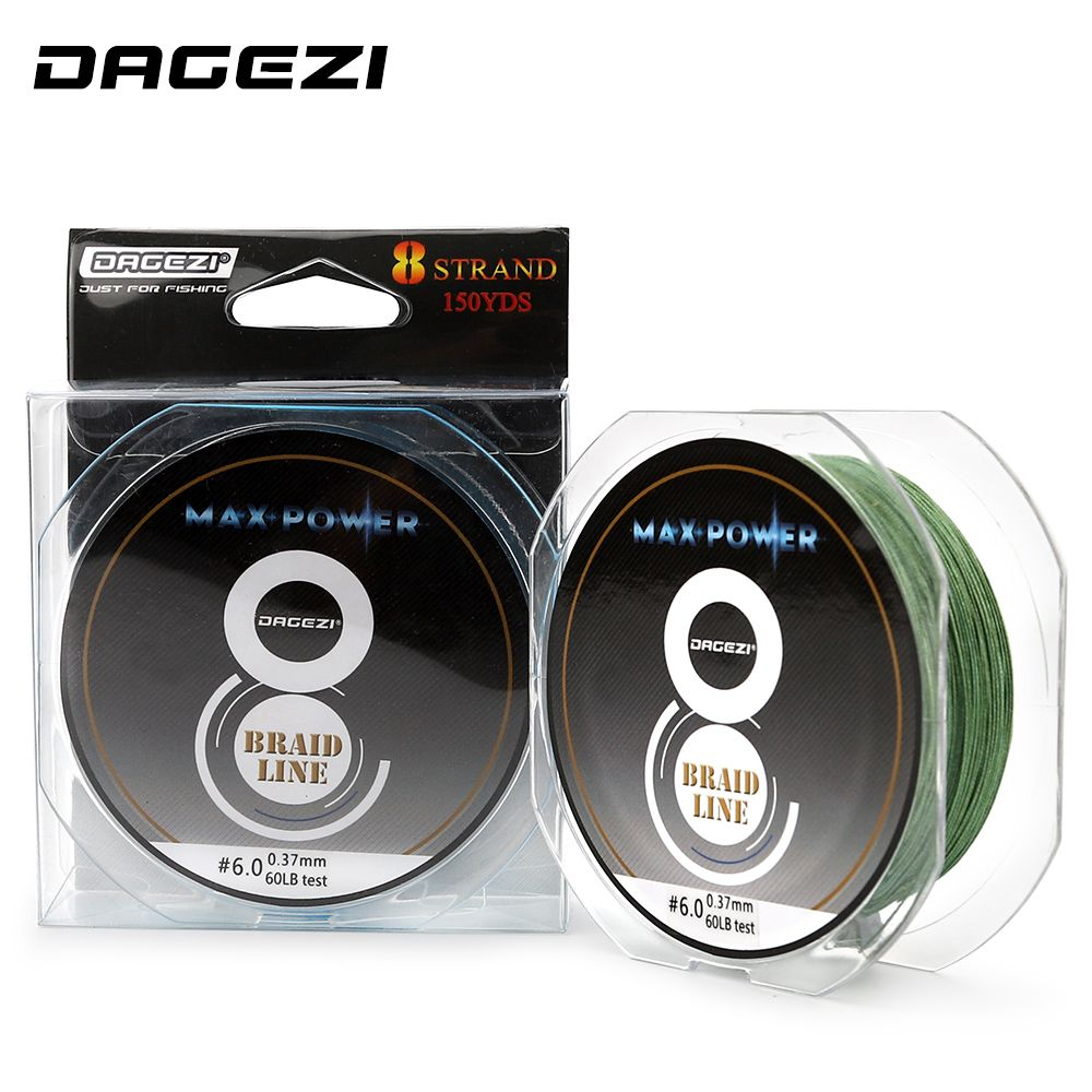 DAGEZI Super Strong 150YDS 8 strand 10-60LB brand fishing lines 6colors 100% PE Braided Fishing Line smooth line fishing tackle