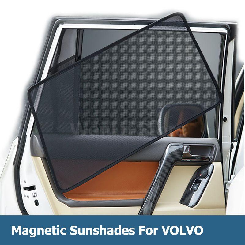 4 Pcs Magnetische Auto Seite Fenster Sonnenschirm Laser Schatten Sonne Block UV Visier Solar Mesh Abdeckung FÜR VOLVO S60L S60 v40 V60 XC60 XC90