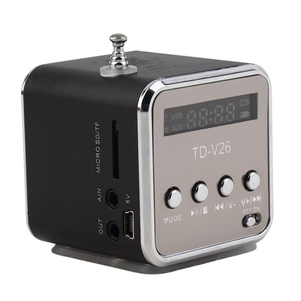 Mini haut-parleur sans fil Portable avec LED panneau d'affichage prend en charge la carte mémoire TF carte USB disque FM Radio MP3 ligne de lecture en fonction
