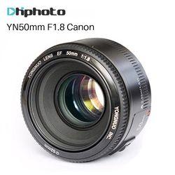 YONGNUO YN50mm F1.8 lente EF 50mm para Canon enfoque grande lentes para cámara DSLR 700D 750D 800D 5D Mark II IV 10D
