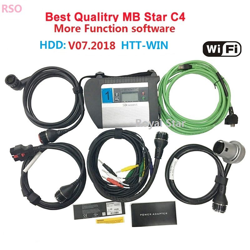 ADG426&AM79C874VI chip MB STAR sd C4 car diagnostic scanner tool Mb star C4 sd connector for 12V/24V auto diagnostic scanner