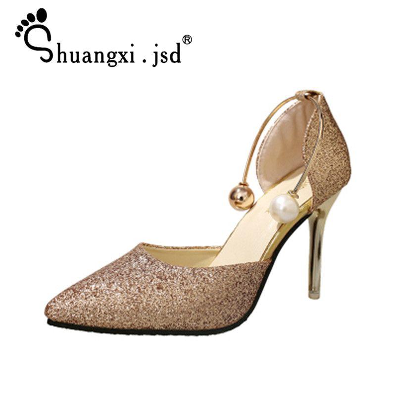 Пикантные женские туфли на высоком 9 см 2018 летние новые туфли на высоком каблуке модные туфли с закрытым носком женские туфли нормальный раз...