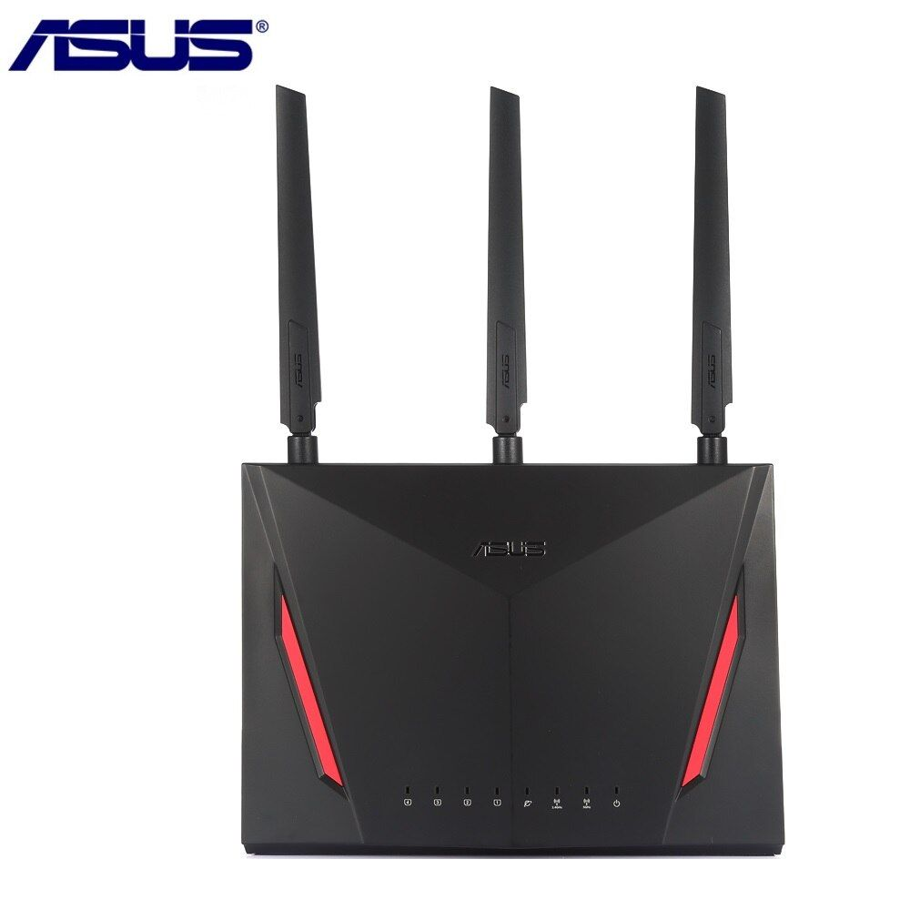 ASUS RT-AC86U Wireless Router 2900Mbps Dual Core 1.8GHz IEEE 802.11ac/g/n Wifi Router with Antennas